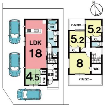 四日市市三重二丁目 新築建売住宅 全2区画